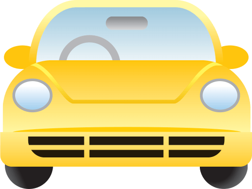 yellow car icon