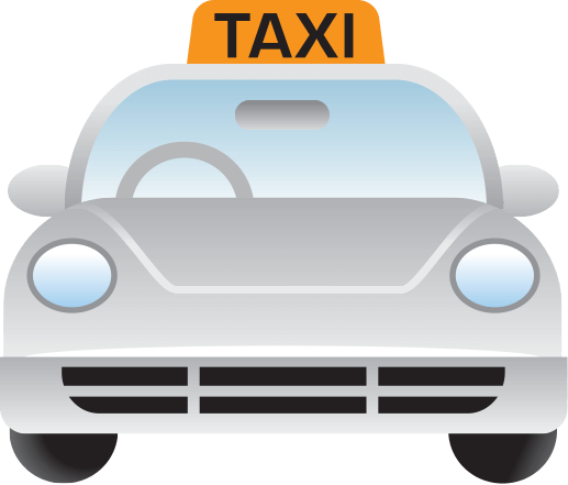 white taxi icon