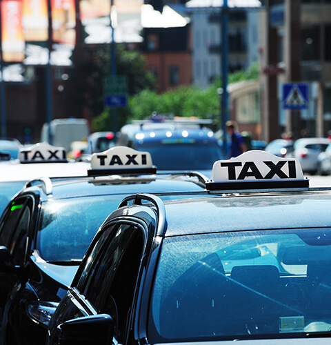small fleet of taxis